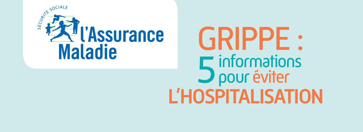 L'assurance maladie vous informe sur la grippe : 5 informations à connaître pour éviter l'hospitalisation